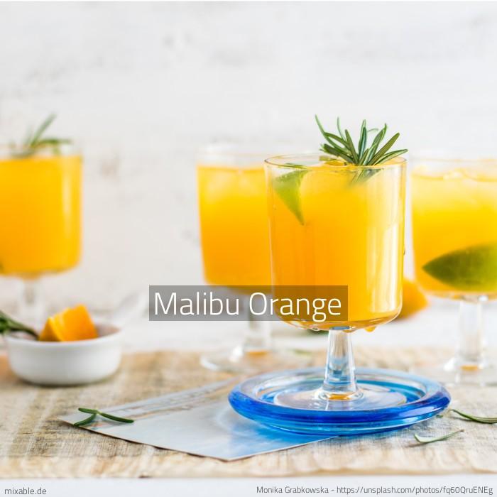 rezept malibu orange cocktails drinks. Black Bedroom Furniture Sets. Home Design Ideas